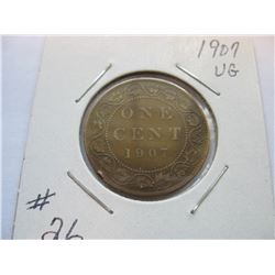 1907 Canadian Large Cent