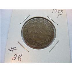 1908 Canadian Large Cent