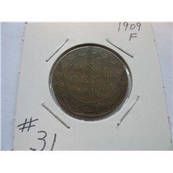 1909 Canadian Large Cent
