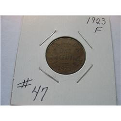1923 Canadian Small Cent  -  Scarce Date