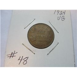 1924 Canadian Small Cent
