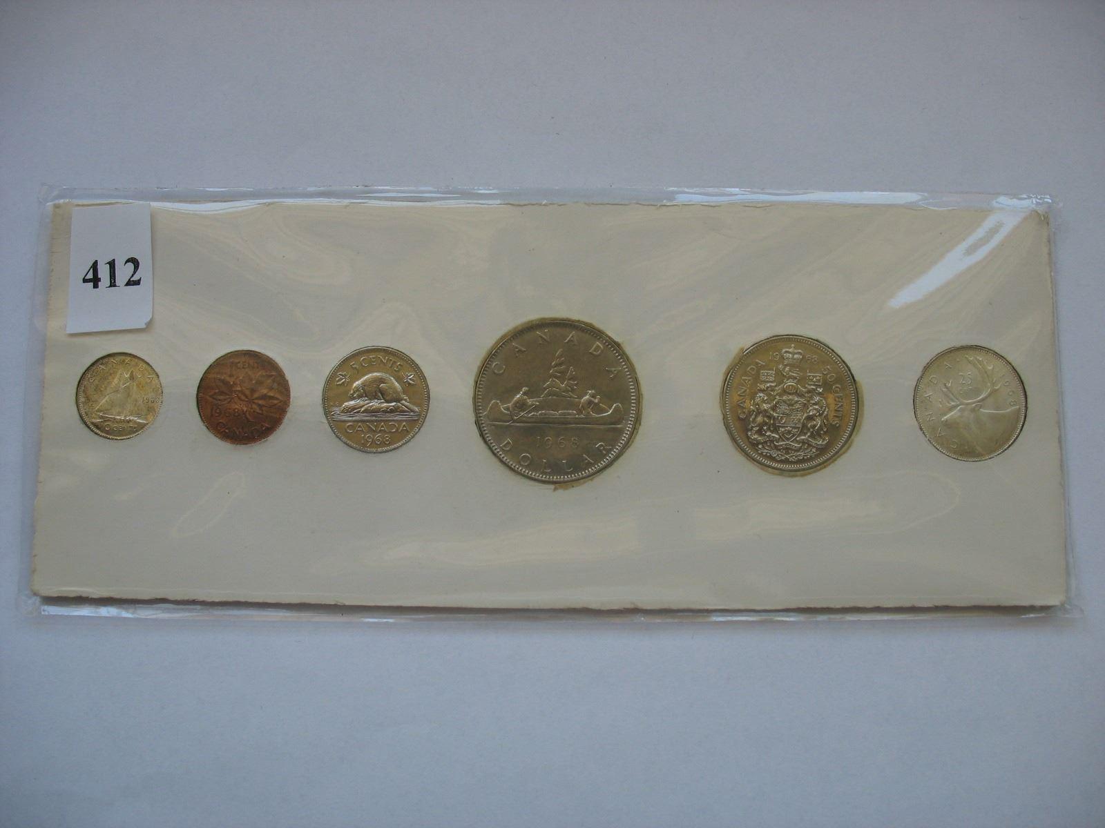 1968 Canadian Coin Set - Silver Quarter & Dime