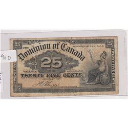 1900 25 CENT SHINPLASTER