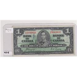 1937 DOLLAR BILL