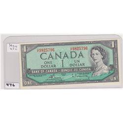 1954 UNCIRCULATED DOLLAR BILL