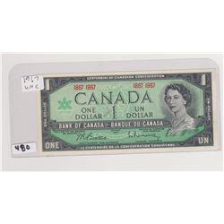 1967 UNCIRCULATED DOLLAR BILL