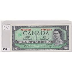 1967 UNCIRCULATED DOLLAR BILL BM REPLACEMENT