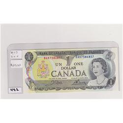 1973 UNCIRCULATED DOLLAR BILL