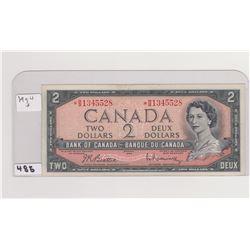 1954 * 2 DOLLAR BILL BEATTY/RASMINSKI SIGNATURE