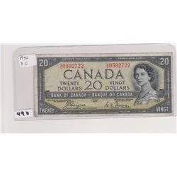 1954 DEVILS FACE 20 DOLLAR BILL