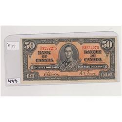 1937 50 DOLLAR BILL