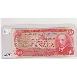 1975 50 DOLLAR BILL