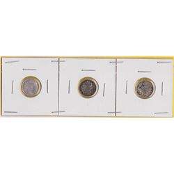 3 CNDN SILVER FIVE CENT COINS