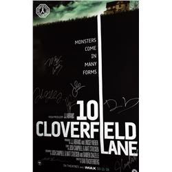 10 Cloverfield Lane Double-Sided Poster Signed by 7 Cast/Creative Team