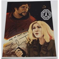 100, The - Bellamy/Clarke Art Print Signed by Bob Morley & Eliza Taylor