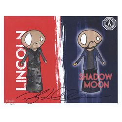 100, The - Lincoln/Shadow Moon (American Gods) Art Print Signed by Ricky Whittle
