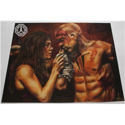 100, The - Octavia & Lincoln Limited Ed. Art Print Signed by Marie Avgeropoulos