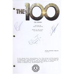100, The - Season 1 Pilot Script Signed by R. Harmon, S. Sahel & E. Taylor