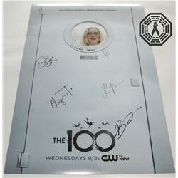 100, The - Season 2 Poster Signed by Bostick, Harmon, Larkin, Morgan, Morley, Taylor