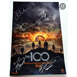 100, The - Season 4 SDCC 2017 Mini Poster Signed by 6 Cast & J.R.