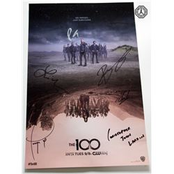 100, The - Season 5 WonderCon 2018 Mini Poster Signed by 6 Cast & J.R.
