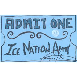 100, The - Writers Room Ice Nation Doodle Signed by Tasya Teles