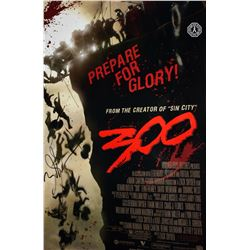 300 Movie Poster Signed by Zack Snyder (Director) & Tyler Bates (Composer)