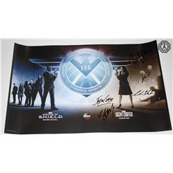 Agent Carter/Agents of S.H.I.E.L.D. Crossover Poster Signed by 5 Cast/Creative Team