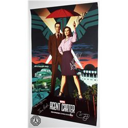 Agent Carter Marvel Poster Signed by 6 Cast/Creative Team