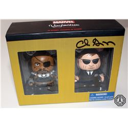 Agents of S.H.I.E.L.D Coulson/Fury Vinylmation Set Signed by Clark Gregg