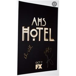 American Horror Story: Hotel Poster Signed by W. Bentley, D. O'Hare & S. Paulson