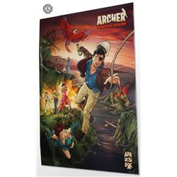 Archer (Danger Island) Limited Edition Poster Signed by Aisha Tyler