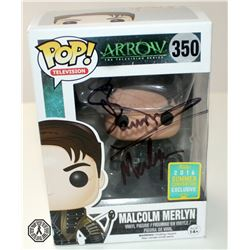 Arrow Malcolm Merlyn (Convention Excl.) Funko Pop! Signed by John Barrowman