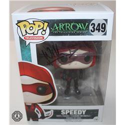 Arrow Speedy Funko Pop! Signed by Willa Holland