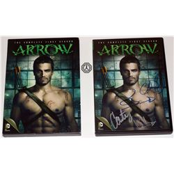 Arrow: Season 1 DVD Signed by S. Amell, C. Donnell, W. Holland & C. Lotz