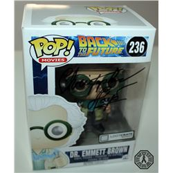 Back the Future Dr. Emmett Brown (Loot Crate Excl.) Funko Pop! Signed by C. Lloyd