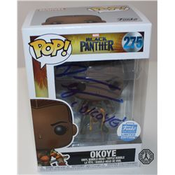 Black Panther Okoye (Rare Funko Shop Exclusive) Pop! Signed by D. Gurira