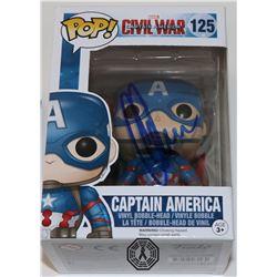 Captain America: Civil War Captain America Funko Pop! Signed by C. Evans