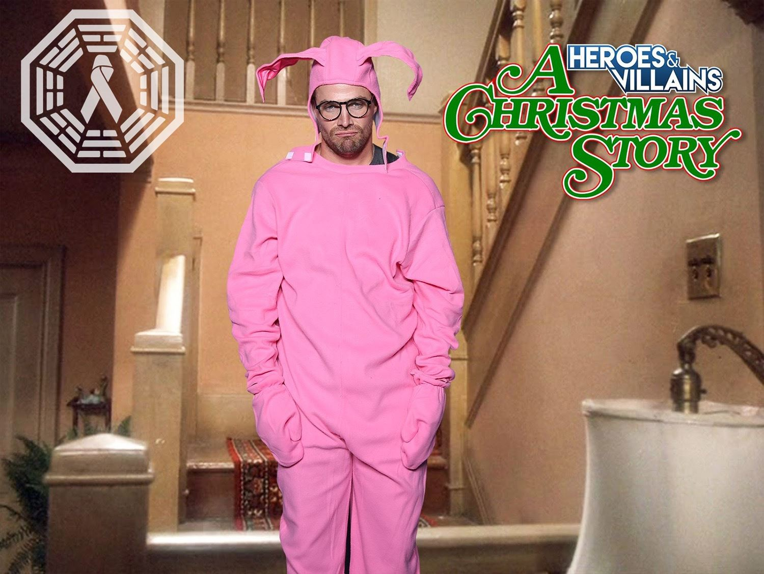 Christmas Story Bunny Pajamas.Christmas Story A Bunny Costume Signed By Stephen Amell Arrow