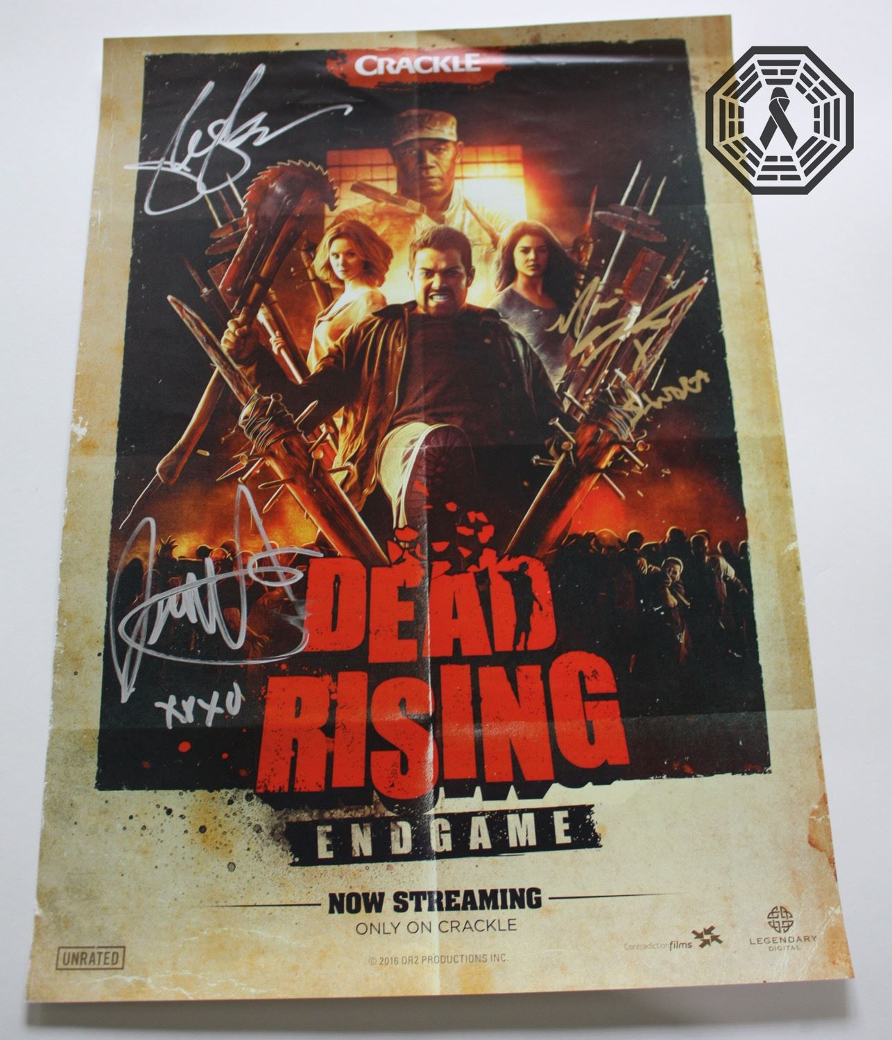 Dead Rising Endgame 2016 Blu Ray Poster Signed By 3 Cast