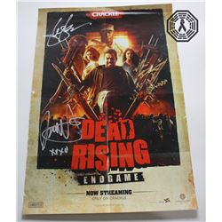 Dead Rising: Endgame 2016 Blu-ray, Poster Signed by 3 Cast + Custom Art