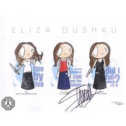 Eliza Dushku TV Character Montage Art Print Signed by Eliza Dushku