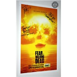 Fear the Walking Dead Poster Signed by C. Domingo, L. Henrie, M. Mason