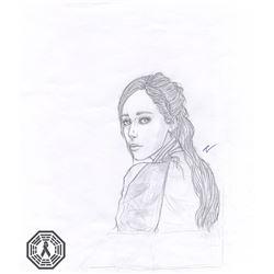 Fear the Walking Dead Alicia Clark Original Black & White Sketch
