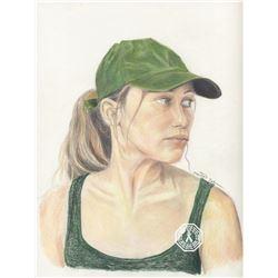 Fear the Walking Dead Alicia Clark Original Colored Pencil Sketch