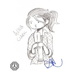 Fear the Walking Dead Alicia Clark Original Doodle Signed by Alycia Debnam-Carey