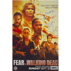 Fear the Walking Dead SDCC 2017 AMC Foam Core Poster Signed by 10 Cast/Creative Team