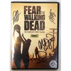 Fear the Walking Dead: Season 1 DVD Signed K. Dickens, C. Domingo, L. Henrie, M. Mason
