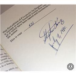Firestarter 1st Ed. Book Signed by Stephen King & Framed Limited Ed. Book Art Print (RARE)
