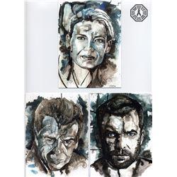 Fringe Mini Art Print Set (Olivia, Peter, Walter) + Astrid Art Print